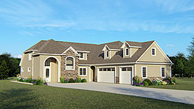 Colonial European Southern House Plan 50711 Elevation