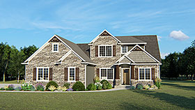 Traditional , Southern , Country , Cottage House Plan 50712 with 5 Beds, 3 Baths, 3 Car Garage Elevation