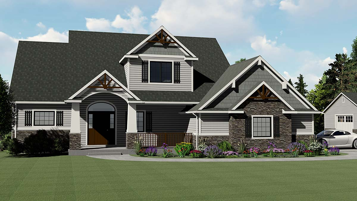 Bungalow Cottage Country Craftsman Southern Traditional Tudor House Plan 50713 Elevation