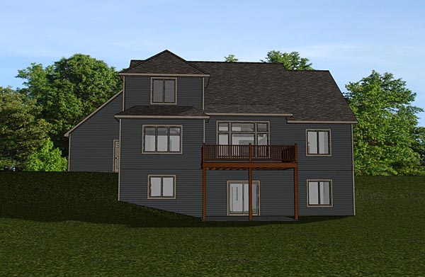 Bungalow Cottage Country Craftsman Southern Traditional Tudor House Plan 50713 Rear Elevation