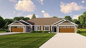 Ranch Multi-Family Plan 50721 Elevation