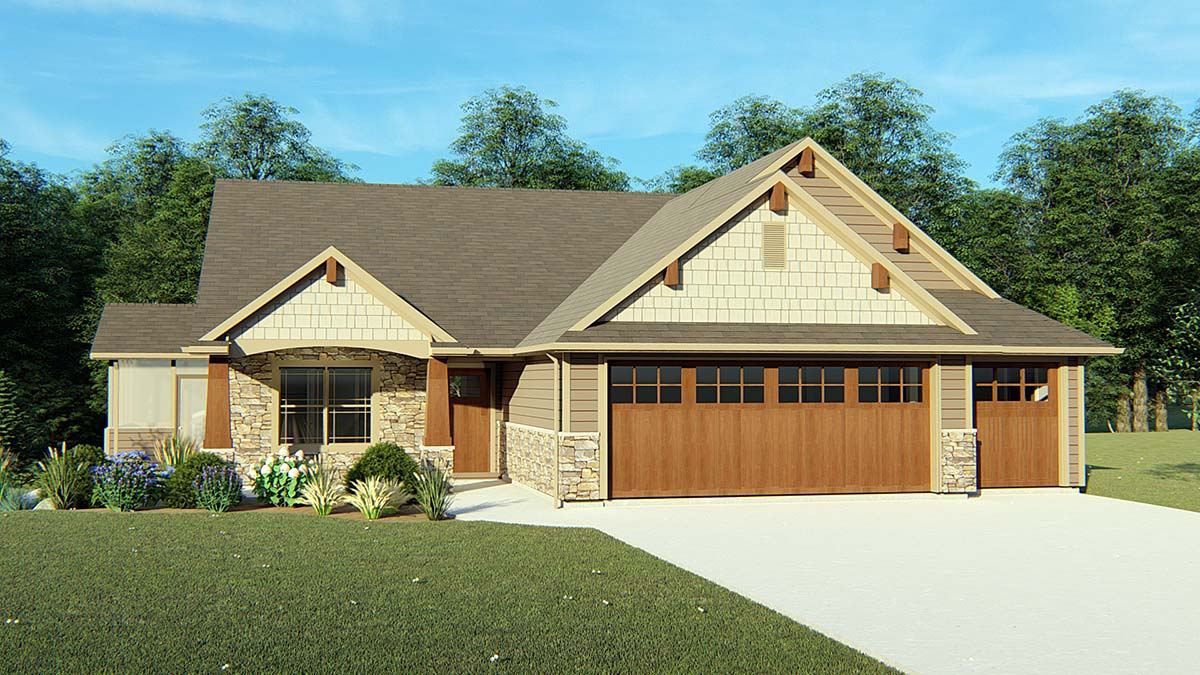 Cottage Country Craftsman Traditional House Plan 50725 Elevation