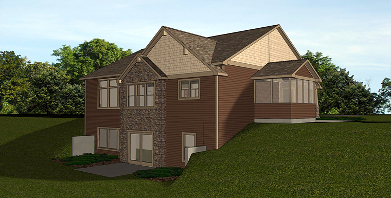 Cottage Country Craftsman Traditional House Plan 50725 Rear Elevation