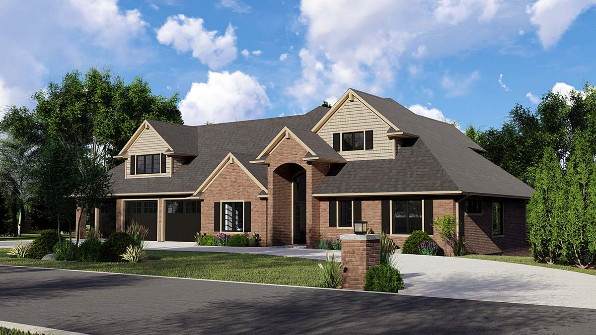 Traditional House Plan 50727 Elevation