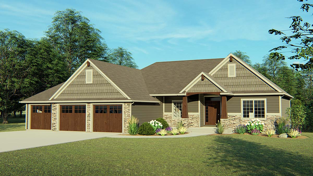 Bungalow Cottage Craftsman Elevation of Plan 50736