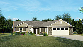 House Plan 50739 | Ranch Traditional Style Plan with 2063 Sq Ft, 3 Bedrooms, 3 Bathrooms, 2 Car Garage Elevation
