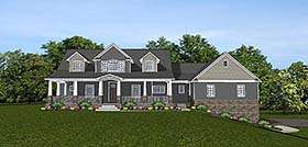 Traditional , Southern , Farmhouse , Country House Plan 50741 with 3 Beds, 3 Baths, 3 Car Garage Elevation