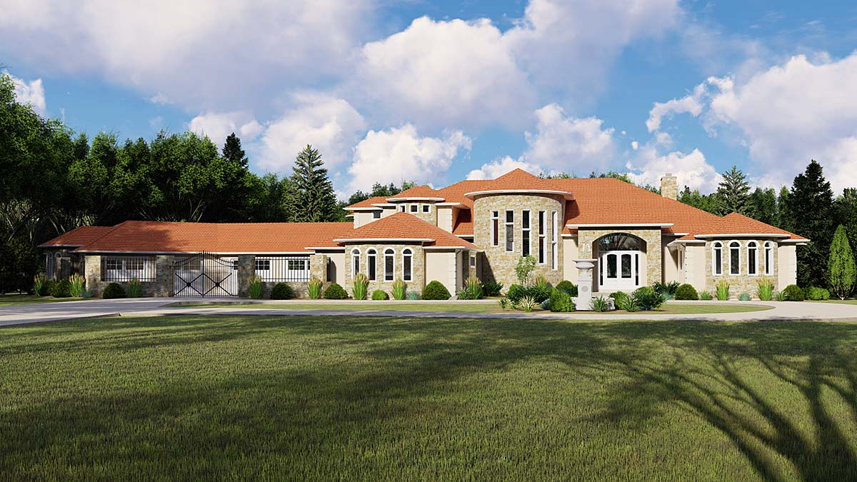 Italian Mediterranean House Plan 50742 Elevation