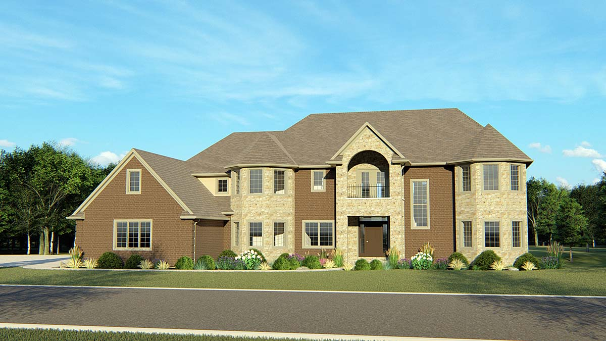 European House Plan 50743 Elevation