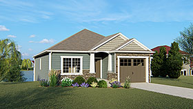 Craftsman Traditional House Plan 50749 Elevation