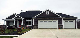 Traditional , Bungalow House Plan 50754 with 4 Beds, 3 Baths, 3 Car Garage Elevation