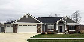 Craftsman Ranch Traditional House Plan 50755 Elevation