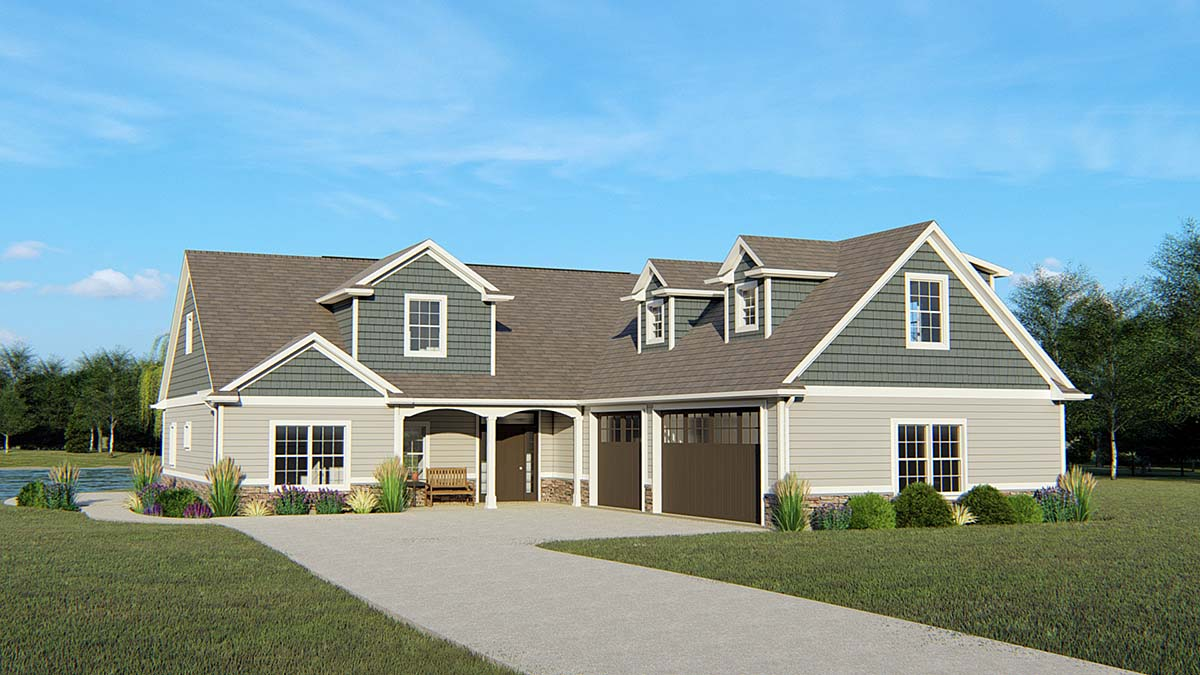 Country House Plan 50761 with 4 Beds, 5 Baths, 3 Car Garage Elevation