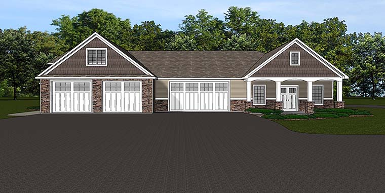 Traditional Garage Plan 50763 Elevation