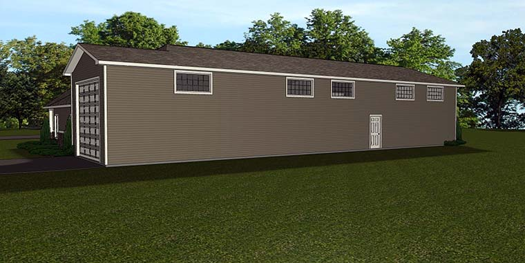 Traditional Garage Plan 50763 Rear Elevation