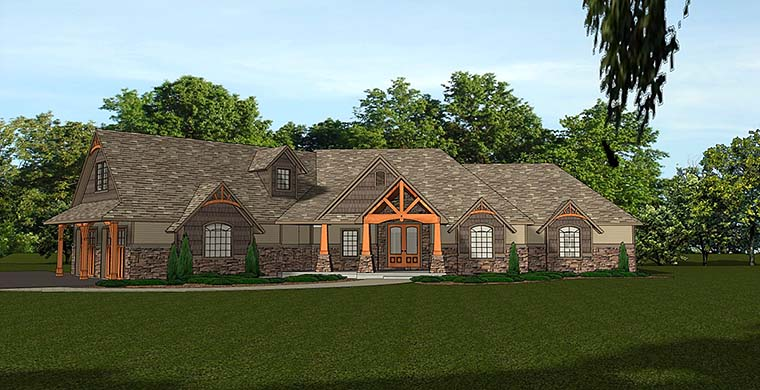 Bungalow Cottage Country Craftsman House Plan 50764 Elevation