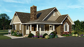 Country , Craftsman House Plan 50765 with 4 Beds, 3 Baths Elevation