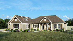 House Plan 50767 | European Traditional Style Plan with 3696 Sq Ft, 5 Bedrooms, 4 Bathrooms, 3 Car Garage Elevation