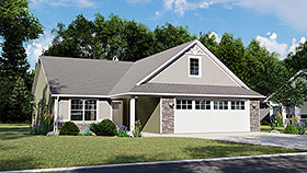Ranch Traditional House Plan 50769 Elevation