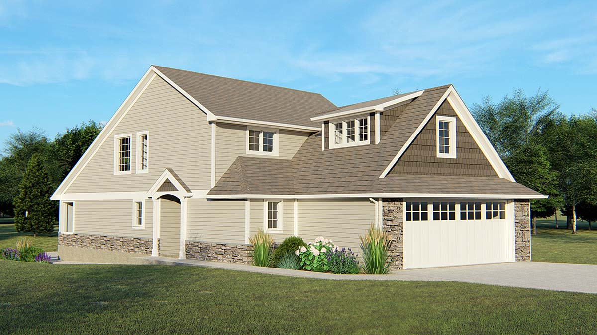 Country , Traditional House Plan 50770 with 3 Beds, 3 Baths, 2 Car Garage Elevation