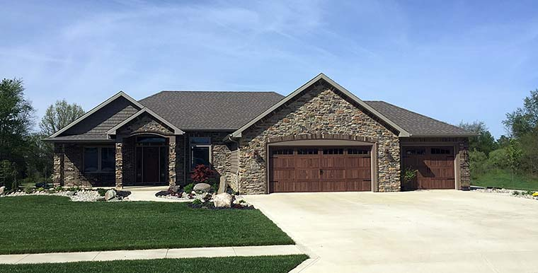 Craftsman, Traditional House Plan 50774 with 3 Beds, 3 Baths, 3 Car Garage Elevation