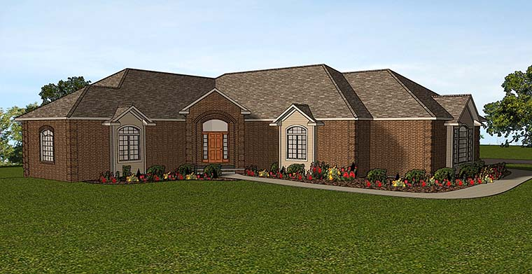 European House Plan 50780 Elevation