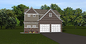 Garage Plan 50792 | Style Plan, 1 Bathrooms, 2 Car Garage Elevation