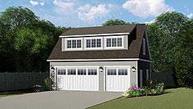 Garage Plan 50793 | Style Plan, 3 Car Garage Elevation
