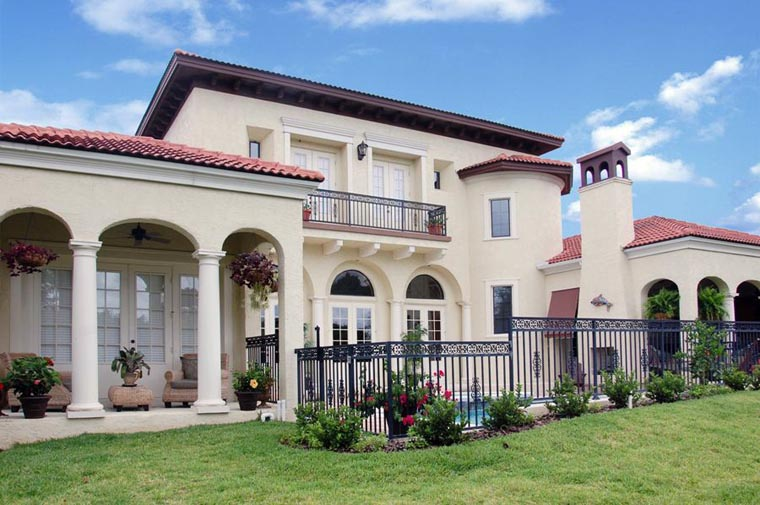 European House Plan 50800 Rear Elevation