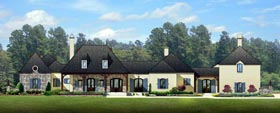 European House Plan 50803 Elevation
