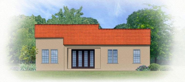 Mediterranean House Plan 50817 Rear Elevation