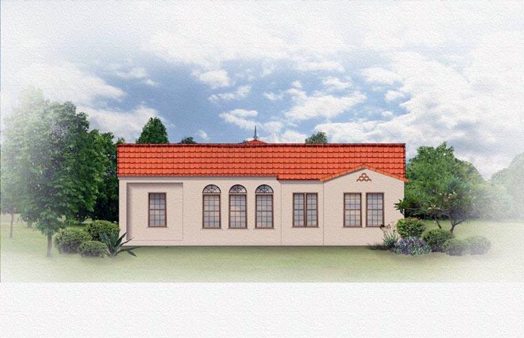 Mediterranean House Plan 50819 Rear Elevation