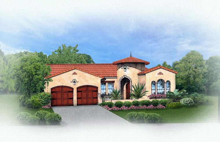 Mediterranean House Plan 50820 Elevation