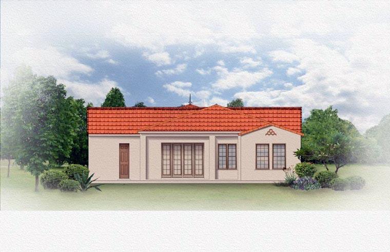 Mediterranean House Plan 50821 Rear Elevation