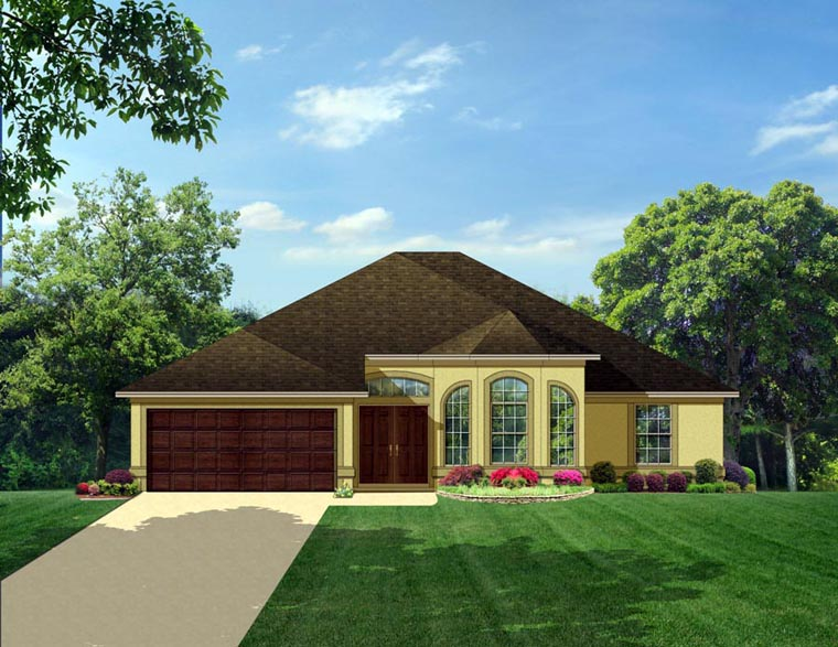 Colonial House Plan 50828 Elevation