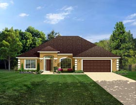 Colonial House Plan 50840 Elevation