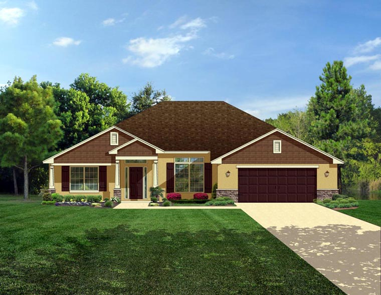 Craftsman House Plan 50843 Elevation