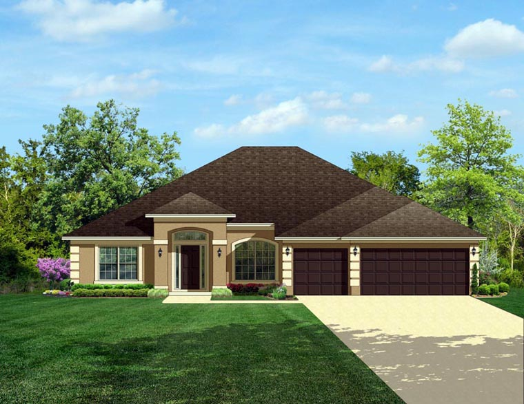Colonial House Plan 50844 Elevation