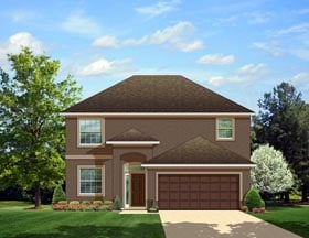 Colonial House Plan 50865 Elevation