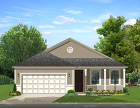Traditional , Florida House Plan 50869 with 2 Beds, 2 Baths, 2 Car Garage Elevation