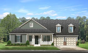 Country Traditional House Plan 50874 Elevation