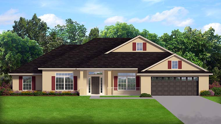 Contemporary Florida House Plan 50876 Elevation