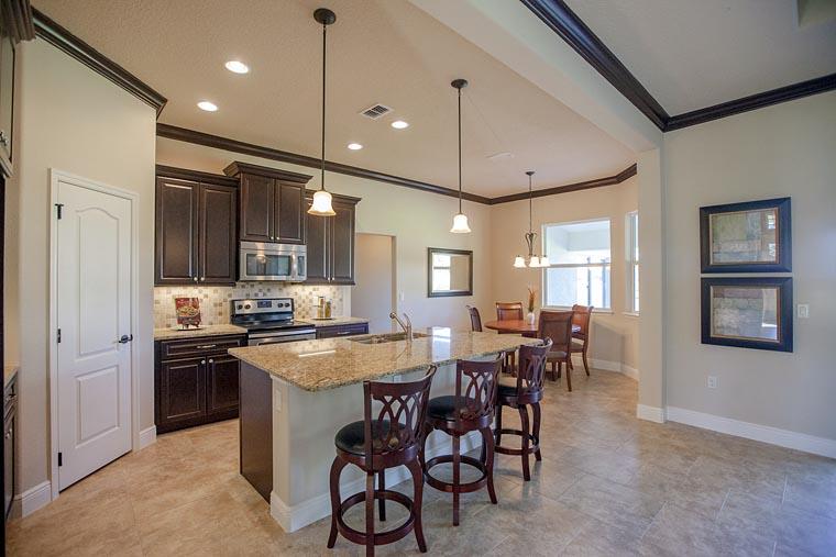 Contemporary, Florida, Mediterranean, Southern, House Plan 50877 with 4 Beds, 3 Baths, 2 Car Garage