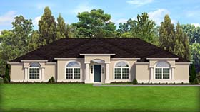 Colonial European Florida Mediterranean Southern House Plan 50878 Elevation