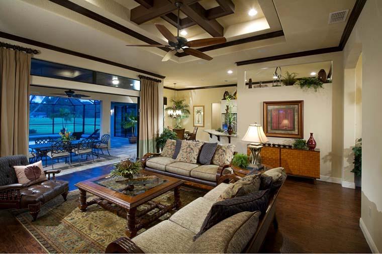 Contemporary Florida Mediterranean Southern House Plan 50879