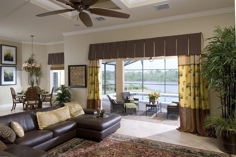 Contemporary European Florida Mediterranean House Plan 50883