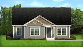 Cottage Florida Ranch Traditional House Plan 50886 Elevation