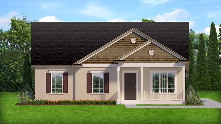 Florida Ranch Traditional House Plan 50887 Elevation