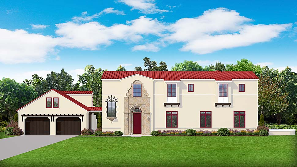 Mediterranean Southwest House Plan 50894 Elevation