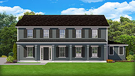 Colonial Country Southern Traditional House Plan 50895 Elevation
